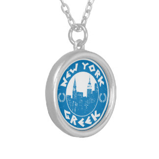 New York Greek American Silver Plated Necklace