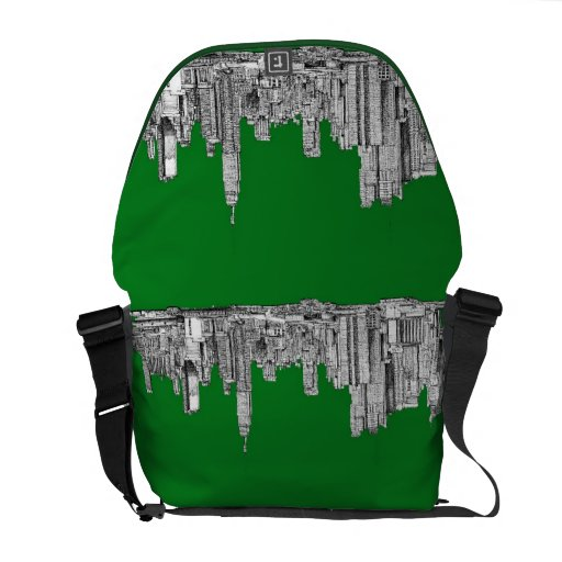 New York green drawing Messenger Bags