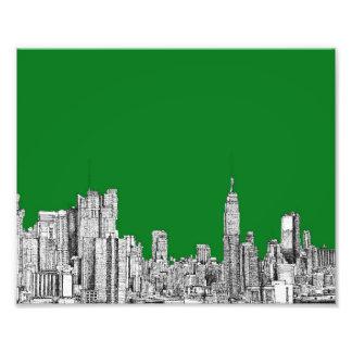 New York green drawing Photo