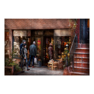 New York - Greenwich Village - The gift shop Poster