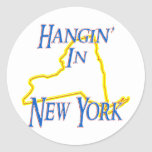 New York - Hangin' Classic Round Sticker