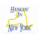 New York - Hangin' Postcard
