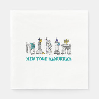 New York Hanukkah Chanukah NYC Holiday Napkins