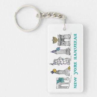 New York Hanukkah NYC Chanukah Holiday Keychain