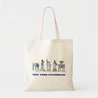 New York Hanukkah NYC Chanukah Holiday Tote Bag