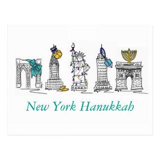 New York Hanukkah Postcards