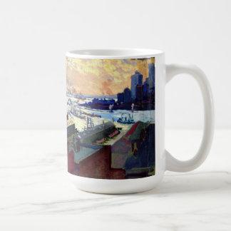 New York Harbor from the Margaret 1922 Coffee Mug