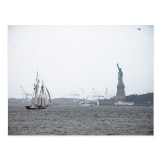 New York Harbor in Fog Postcard