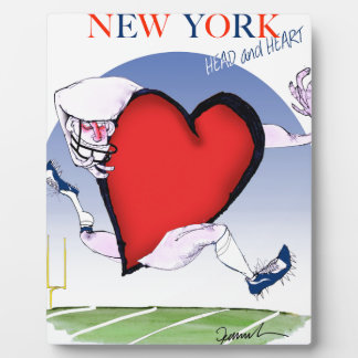 new york head heart, tony fernandes plaque