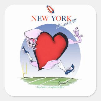new york head heart, tony fernandes square sticker