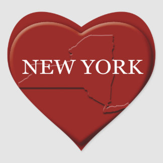 New York Heart Map Design Sticker