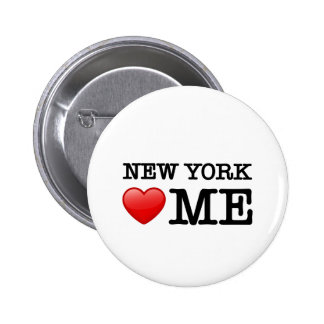 New York Heart ME Pinback Buttons