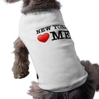 New York heart me Doggie T Shirt