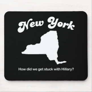 New York - Hillary T-shirt Mouse Pad