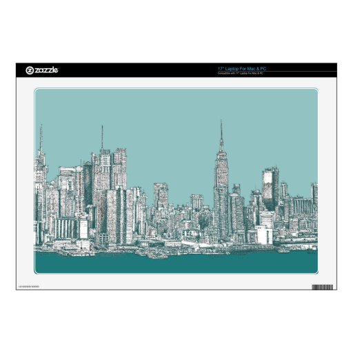 """New York hip Decals For 17"""" Laptops"""