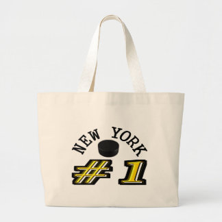 New York Hockey Number 1 Large Tote Bag