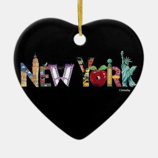 New York Holiday Ceramic Ornament