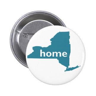 New York Home Pinback Button