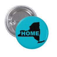 New York Home Button Badge State