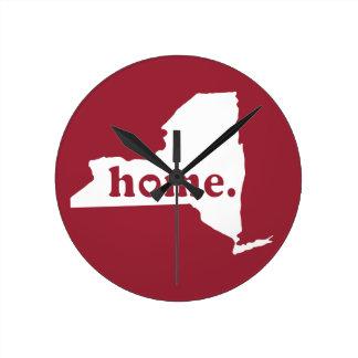 New York Home Round Wall Clocks