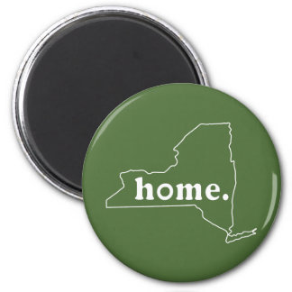 New York Home 2 Inch Round Magnet