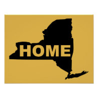 New York Home Poster Sign