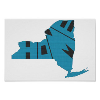 New York Home State Poster