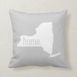 New York Home State Throw Pillow