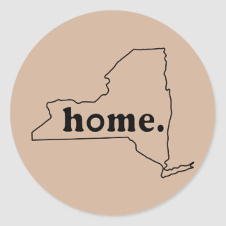 New York Home Classic Round Sticker