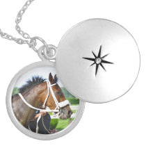 New York Horse Racing Locket Necklace