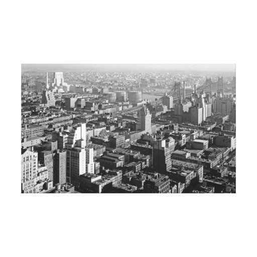 New York Hospital and Queens 1933 Canvas Print