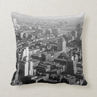 New York Hospital and Queens 1933 Throw Pillow