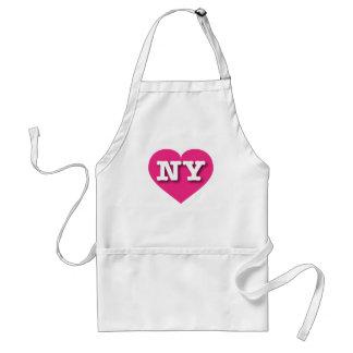 New York Hot Pink Heart - Big Love Adult Apron