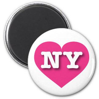 New York Hot Pink Heart - Big Love Magnet