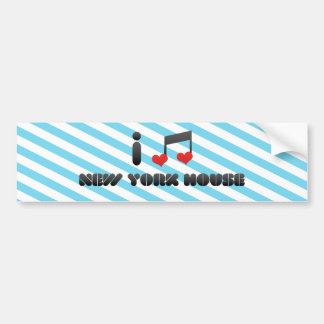 New York House Bumper Stickers