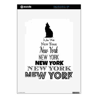 New York Howling, Dog Coyote, Wolf - I love NY Skin For The iPad 2