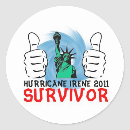 New York Hurricane Irene 2011 Survivor Stickers