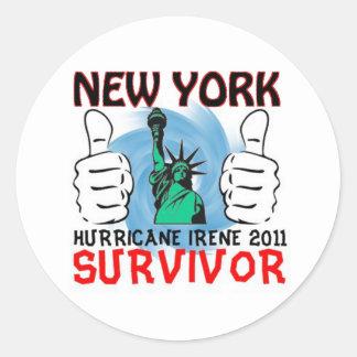 New York Hurricane Irene Survivor Classic Round Sticker