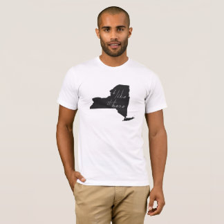 New York I Like It Here State Silhouette T-Shirt