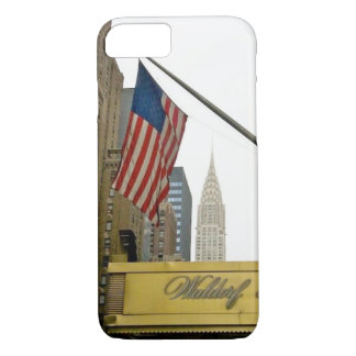 New York icons - Waldorf and Chrysler Building iPhone 8/7 Case