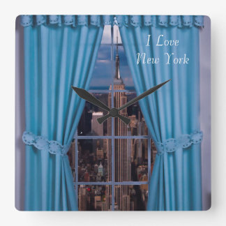 New York image for Square Wall Clock