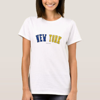 New York in state flag colors T-Shirt