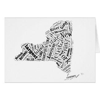 New York in Tagxedo Greeting Card