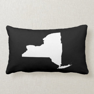 New York in White and Black Throw Pillows