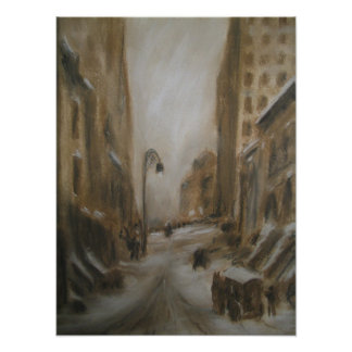 New York in Winter. Poster