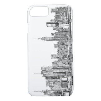 New York ink drawings iPhone 8/7 Case