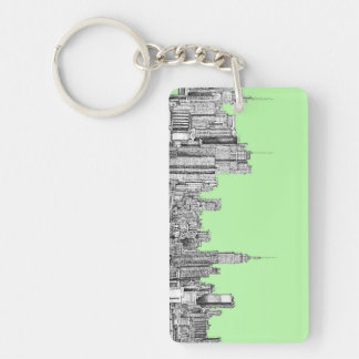 New York ink in lime green Keychain