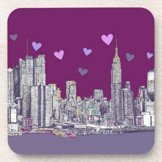 New York ink purple romance Coaster