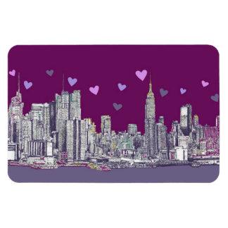New York ink purple romance Rectangle Magnets