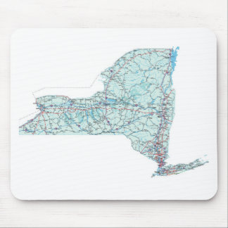 New York Interstate Map Mousepad